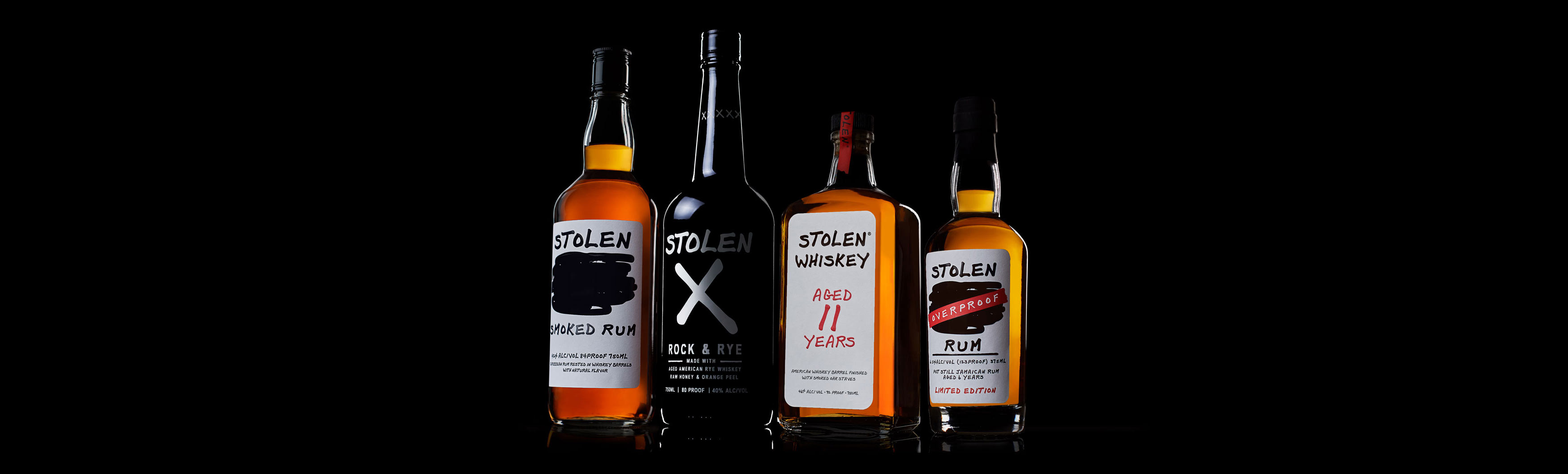 Stolen Smoked Rum Stolen X Rock & Rye 11-year aged American Whiskey and Overproof Rum
